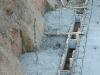 Fundamente für die Vordachstützen