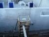 Schalung mit Beton gefüllt (Fundament Vordach)