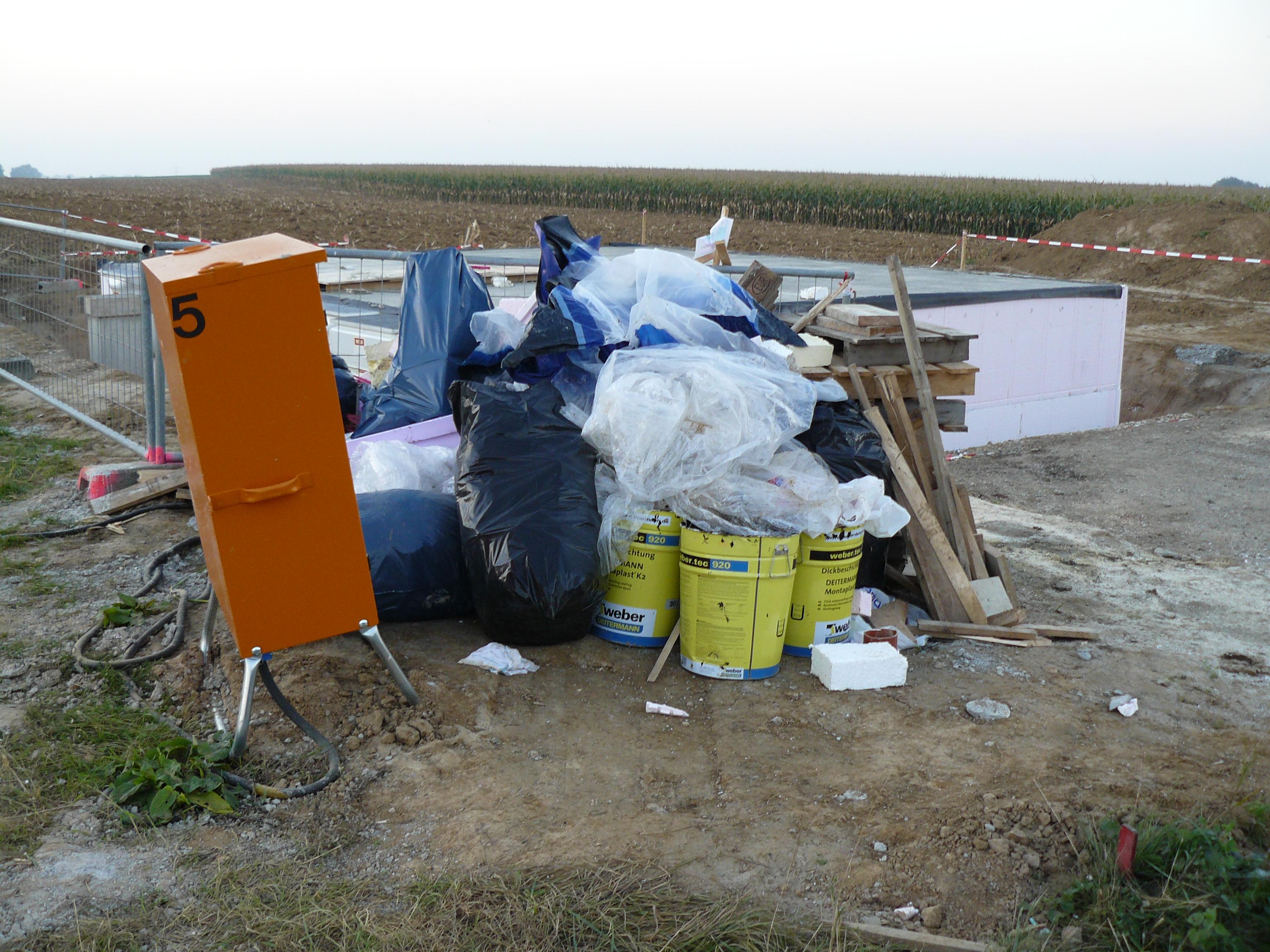 Unser erster Müllhaufen