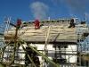 Dachlatten werden montiert
