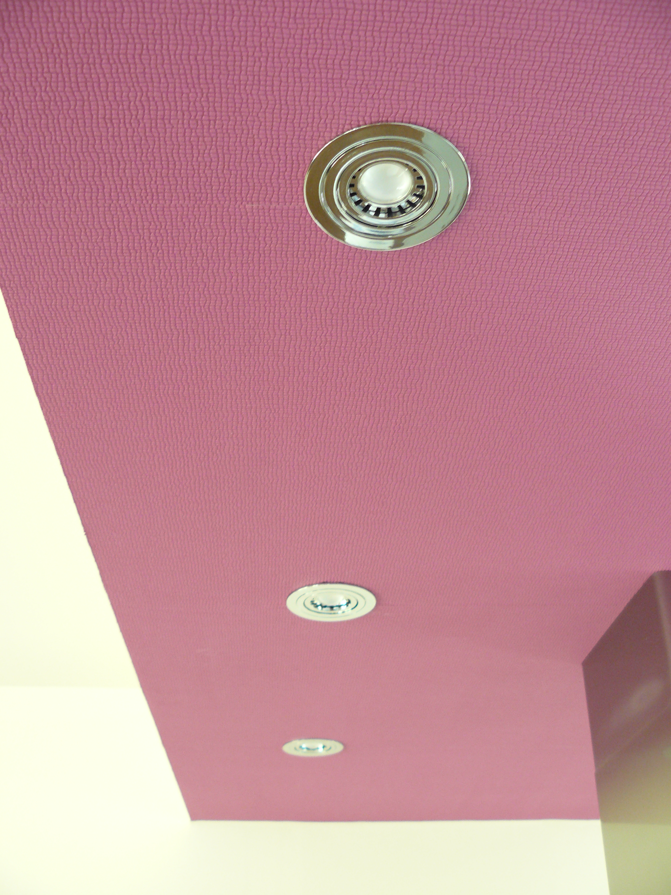 Unterkasten mit LED\'s und Tapete