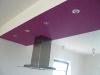 Unterkasten mit LED\'s, Abzugshaube und Tapete