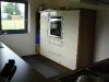 Highboard mit Backofen und Kühlschrank