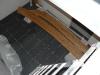 Kellerflurfliesen fertig verlegt und eingefugt