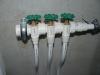 Beschriftung der Absperrhähne fürs Leitungswasser