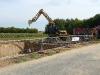 Bagger an der Baugrube