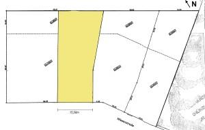 Grundstück mit 15,5m Front Fläche ausgemalt