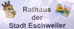 Schriftzug Rathaus der Stadt Eschweiler