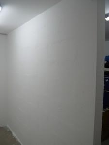 Abtrennwand (links der neue kleine Raum)
